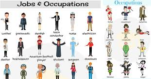 list of jobs and occupations types of