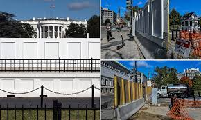 Us Election 2020 White House Security Fence Erected Amid Riot Fears Daily Mail Online