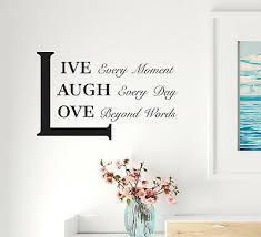 Wall Decal Inspiration Phrase Interior Live Love Laugh Vinyl Decor Black Gz444 Ebay