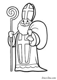 8 Simpliste Saint Nicolas Coloriage Stock Sinterklaas