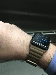 leather loop watch band with magnetic