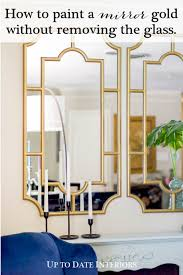 how to paint a mirror frame gold easily