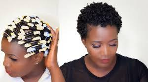 perm rod set on short 4c natural hair