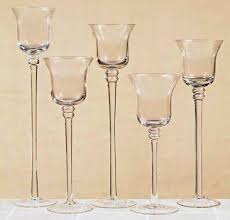 stemmed glass votive candle holders