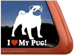 Pug Dog Decals Stickers Nickerstickers