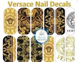 Gold Nail Decals Etsy