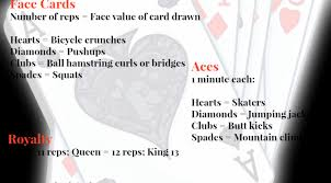 deck of cards workout archives wine