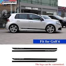 Clubsport Car Sticker For Volkswagen Golf 6 Mk6 Car Side Skirt Stripes Sticker Carbon Fiber Vinyl Decal Automobiles Accessories Car Stickers Aliexpress
