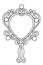 vintage mirror clipart black and white