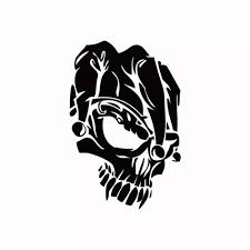 Vova Skull Head Vinyl Car Sticker Creative Cartoon Skull Car Decal For Car Truck Window Body Decoration