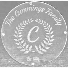 fl wreath etched serving cutting board