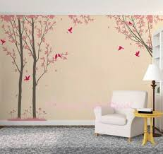Green Anber Black Tree Birds And Cats Wall Decals Removable Tree Wall Sticker Vinyl Wall Art Kids Room Living Room Bedroom Wall Decal Home Decor Wall Stickers Murals
