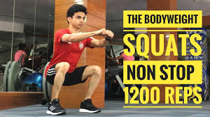 bodyweight squats 1200 reps non stop