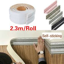 2 3m Roll Self Adhesive Vintage Wallpaper Borders 3d Foam Wall Stickers Living Room Kitchen Baseboard Stickers Wish