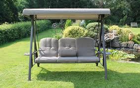 3 seater garden swing seat plus canopy