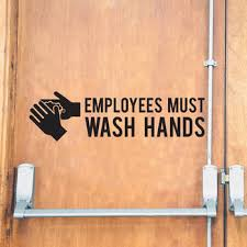Employees Must Wash Hands You Should Too Sign Vinyl Decal Store Decals