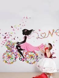 Removable Dance Room Sport Art Ballerina Girl Wall Sticker For Girls For Sale Online Ebay