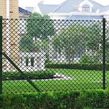 Festnight Garden Fence Chain Link Fence With Posts Privacy Screen Fence Galvanised Steel 3 3 X 82 Green Buy Products Online With Ubuy Ghana In Affordable Prices B084p9444c