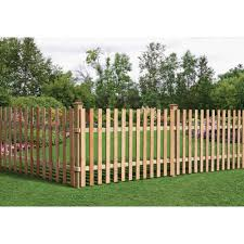 Amazon Com 3 1 2 Ft X 8 Ft Western Red Cedar Spaced Picket Flat Top Fence Panel Kit Industrial Scientific
