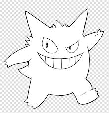 Ash Ketchum Gengar Coloring Book Pokemon Drawing Gym Template