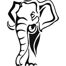 Tribal Elephant 2 Vinyl Decal Sticker