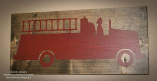 Firefighter Sign Firefighter Decor Distressed Wood Sign Firetruck Sign Firefighter Nursery Firefighter Firefighter Decor Firefighter Room Fire Truck Room
