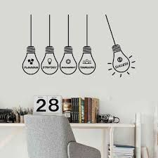 Wall Decal Office Idea Strategy Management Success Lamp Vinyl Wall Stickers Creative Interior Decoration Window Art Mural S1276 Wall Stickers Aliexpress