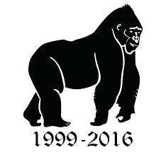 Harambe Car Decal By Colavinylcreations On Etsy Animal Silhouette Gorilla Silhouette