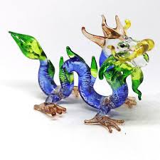 blue magical dragon figurine fantasy