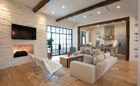 transitional living room austin