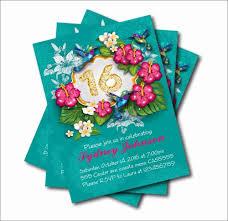 14 Unids Lote De Invitaciones Personalizadas De 16 Cumpleanos Para