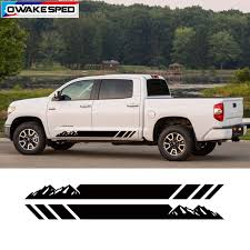 Car Door Side Skirt Sticker For Toyota Tundra Mountain Sport Stripes Pickup Trunk Body Decor Vinyl Decals Exterior Accessories Car Stickers Aliexpress
