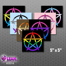 Pride Pentagram Square Bumper Sticker Car Decal Wicca Lgbtq Gay Lesbian Asexual Ebay