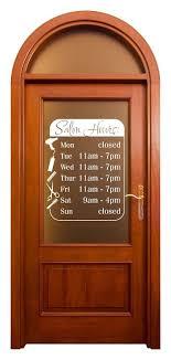 Salon Door Window Hours Beauty Shop Wall Decals Vinyl Art Stickers