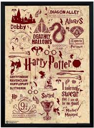 wb official licensed harry potter quotes art typography poster