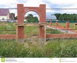 Brick Wall With Arch Stock Photo Image Of Fence Wall 107567848