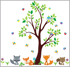 Nursery Wall Decal Woodland Nursery Wall Decal Forest Wall Decals Nurserydecals4you