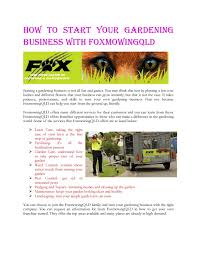 gardening business with foxmowingqld