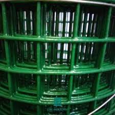 1m X 15m Green Wire Fencing Roll Coated Wire Fencing Roll High Tensile Strength Fencing Railing