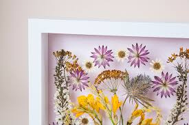 diy pressed flower wall art design sponge