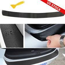 Universal 4d Carbon Fiber Car Rear Bumper Trunk Tail Lip Protect Decal Sticker Q Ebay