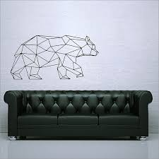 Geometric Polygon Bear Vinyl Wall Art Decal
