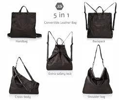 soft black leather diaper bag backpack