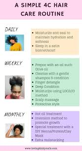 try best hair care routine for 4c type