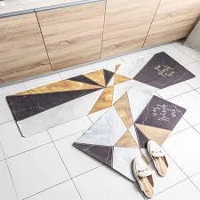geometric splicing area rug oil proof
