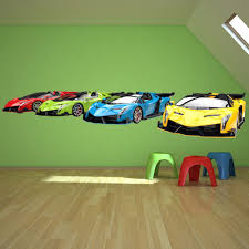 Sports Cars Transport Wall Decal Sticker Ws 43115 Ebay Hot Wheels Bedroom Cars Bedroom Decor Cars Room