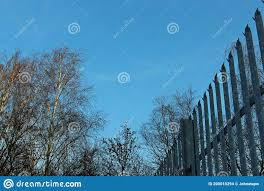 Metal Palisade Security Fencing Stock Photo Image Of Background Security 200010294