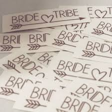 Set Of 10 Bride Tribe And One Bride Decals Bachelorette Bridal Party Decals For Shot Glasses Wine Glasses Plastic Tumblers