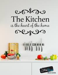 The Kitchen Is The Heart Of The Home Quote Vinyl Wall Decal 6079 Stickerbrand