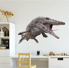 Amazon Com 36 Mosasaurus 3d Dinosaur Wall Sticker Decal Jurassic World Park Dino Boys Bedroom Playroom Nursery Decor Birthday Gift Removable Vinyl Man Cave Decor Home Kitchen